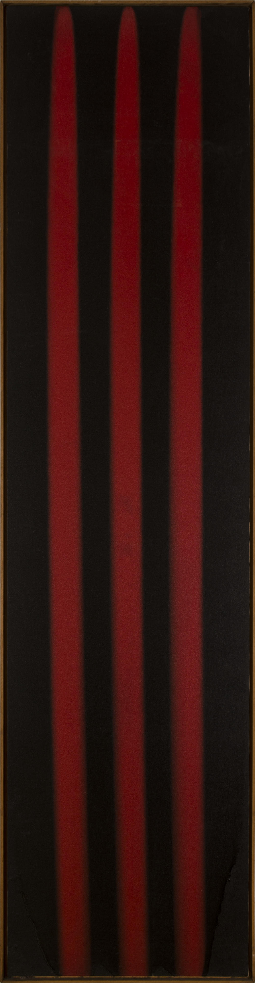 POUR- RED BLACK   1974 ©                               acrylic paint on primed canvas