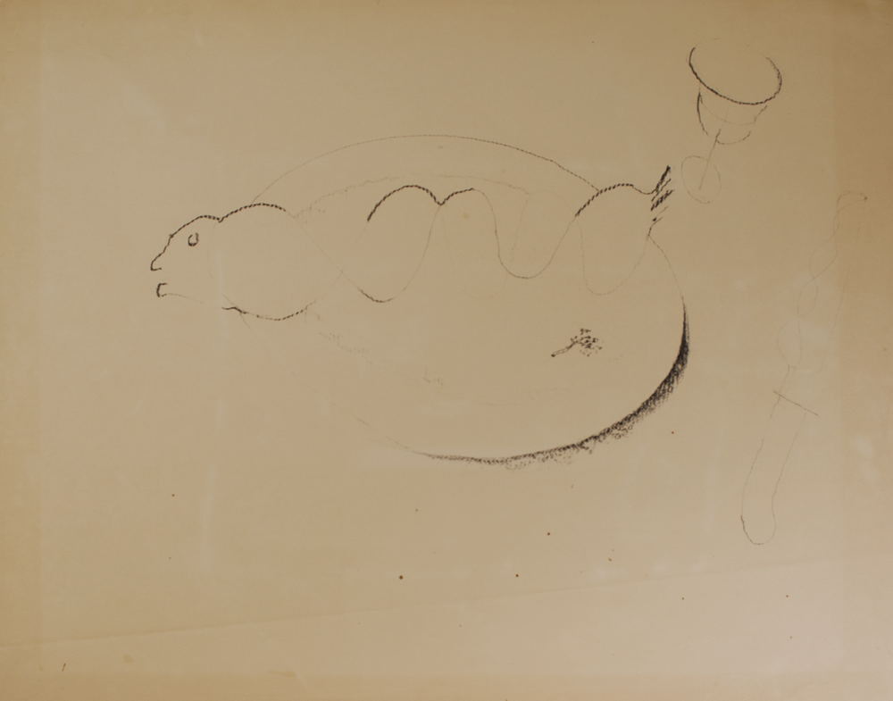 INFINITY FISH & KNIFE 1971-72 © graphite on paper