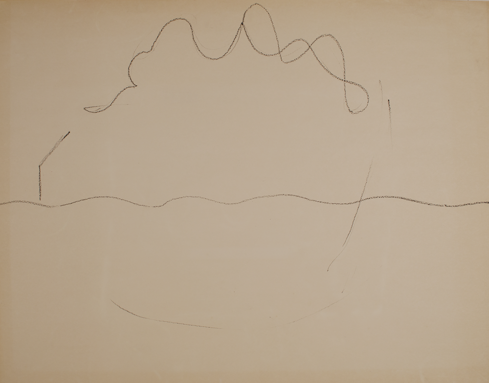 LANDSCAPE  1971-72 ©  graphite on paper