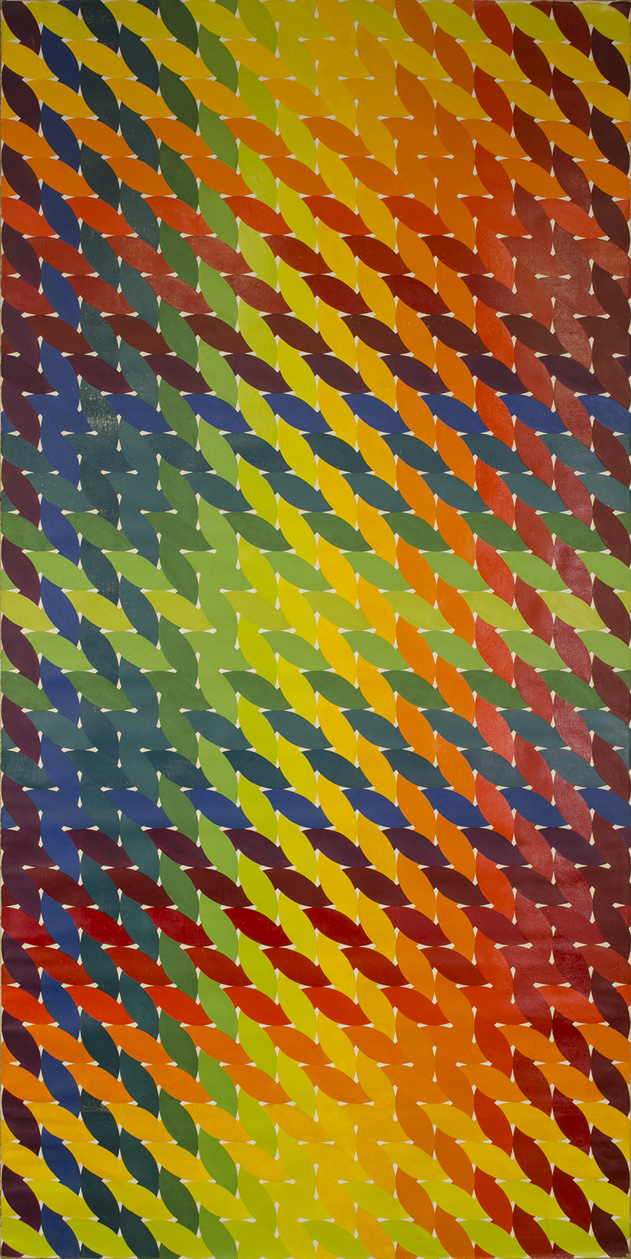 "WEAVE room 1972-1975©--RIGHT DOOR  48"" x 96"" [121.92 cm x 243.84 cm]"