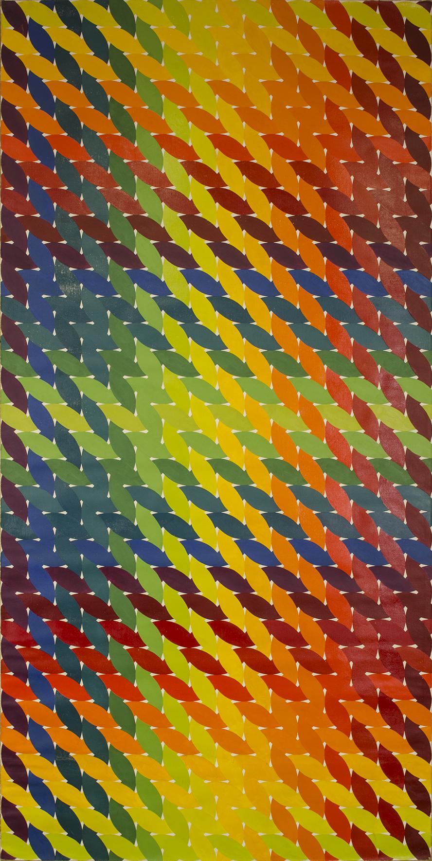 """WEAVE room 1972-1975©--RIGHT DOOR 48"""" x 96"""" [121.92 cm x 243.84 cm]"""