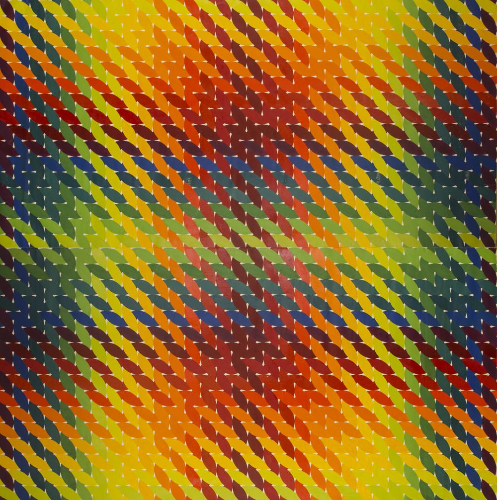 "WEAVE room 1972-1975©--CENTER PANEL 96"" x 96"" [243.84 cm x 243.84 cm]"