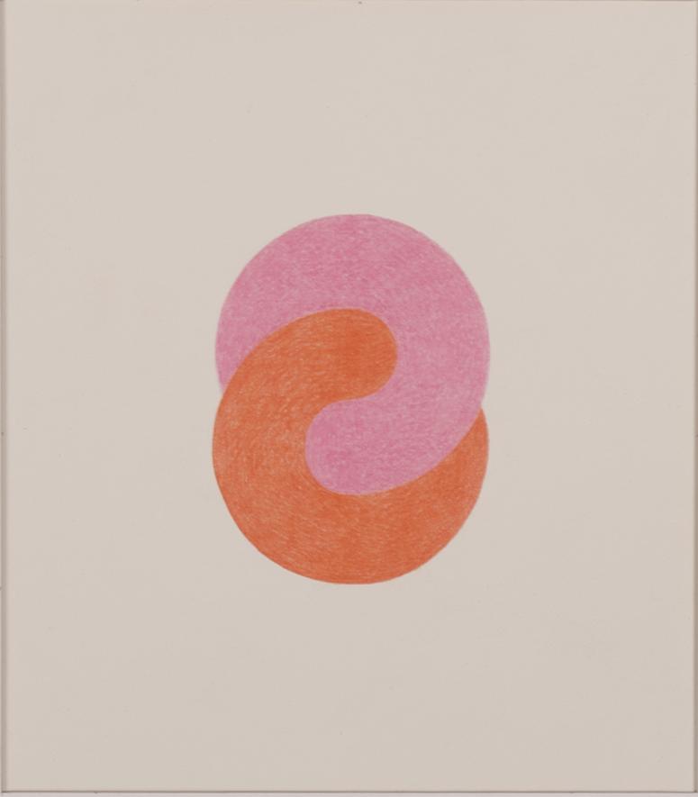 TWINS 1983-84 © COLOR PENCILS ON PAPER