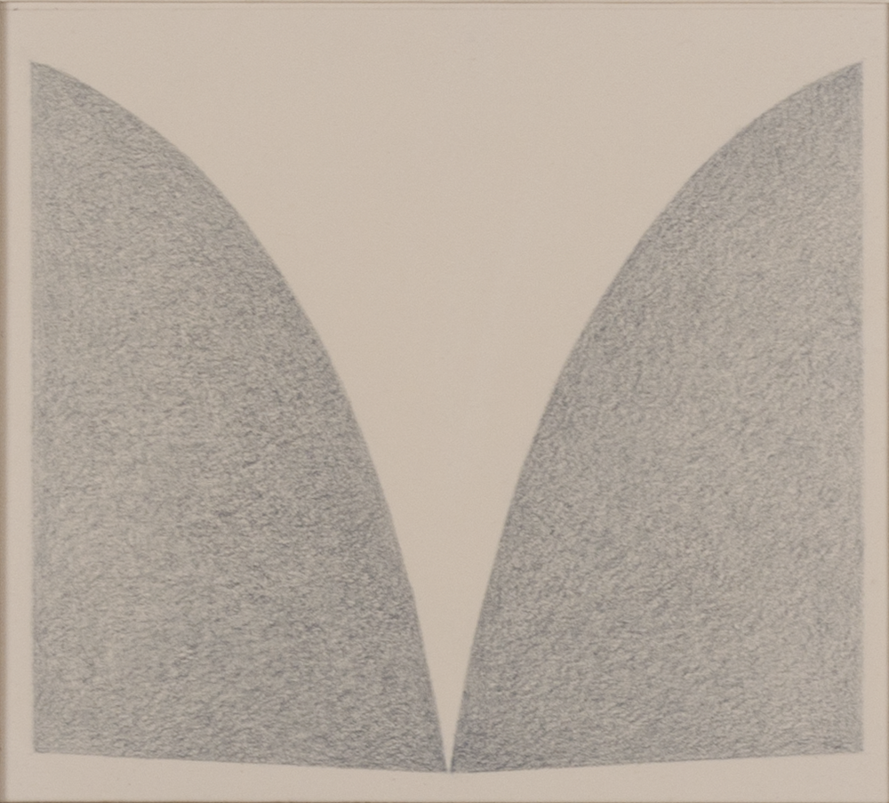 "UNIVERSAL 1978 © GRAPHITE ON PAPER 5.75"" x 6.325"""
