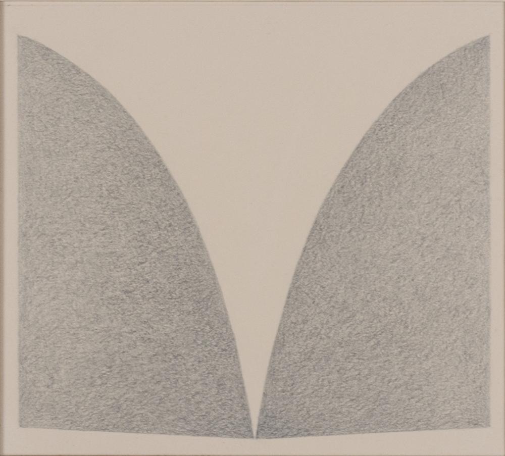 "UNIVERSAL 1978 © GRAPHITE ON PAPER 5.75"" x 6.325"""