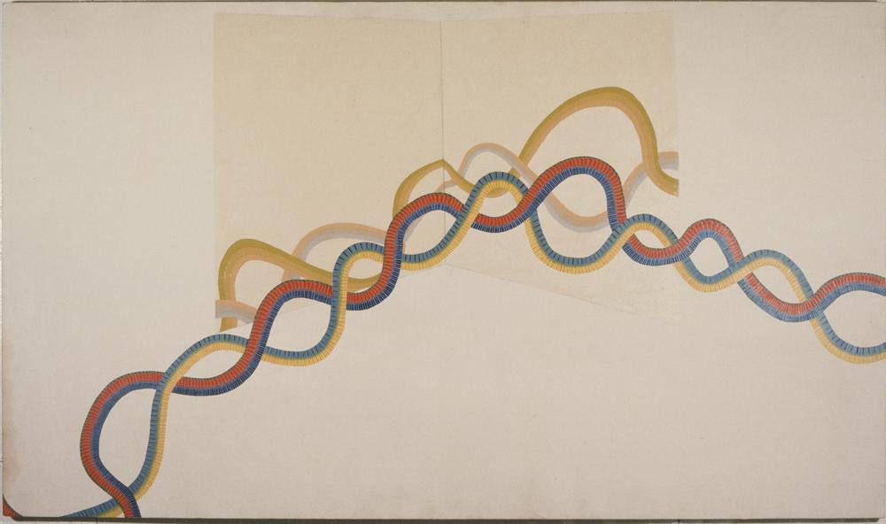 "infinity 1 1972-73 ©  45""x 72"" OIL ON CANVAS"