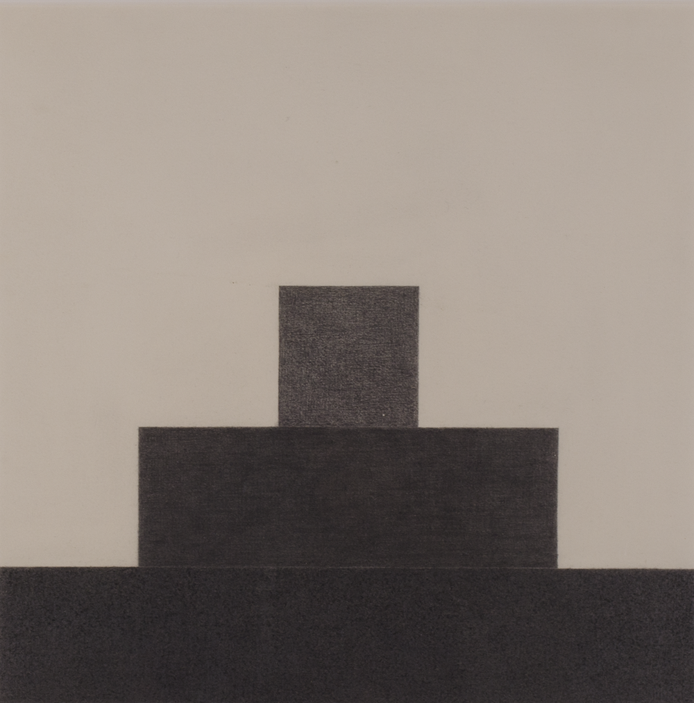 "STEPS TO 1997 ©  GRAPHITE ON PAPER   15"" X 15"""