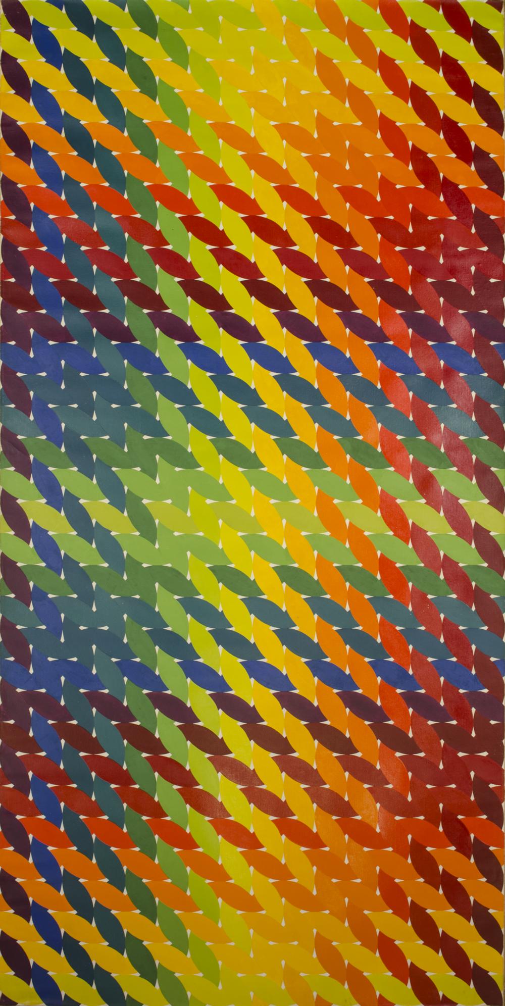 """WEAVE ROOM 1972-1975©-LEFT DOOR 48"""" X 96"""" [121.92 CM X 243.84 CM]"""