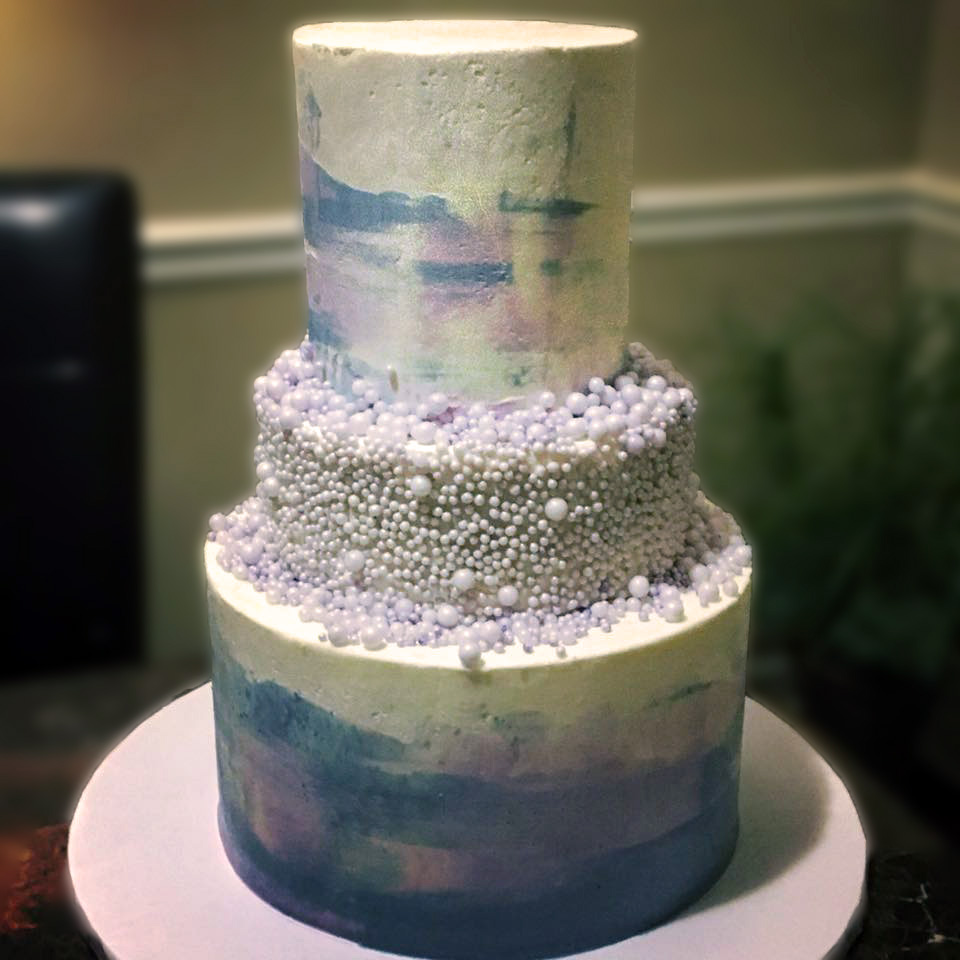 Water Color Pearl Cake