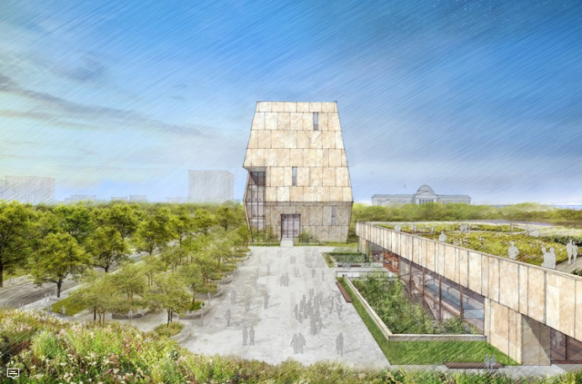 Obama Library Rendering - By TWBT