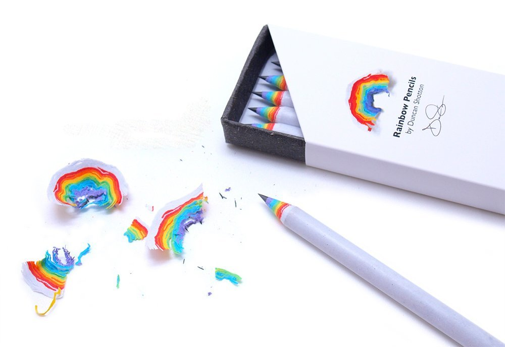 Box of 5 Rainbow Pencils by Duncan Shotton - $16.57