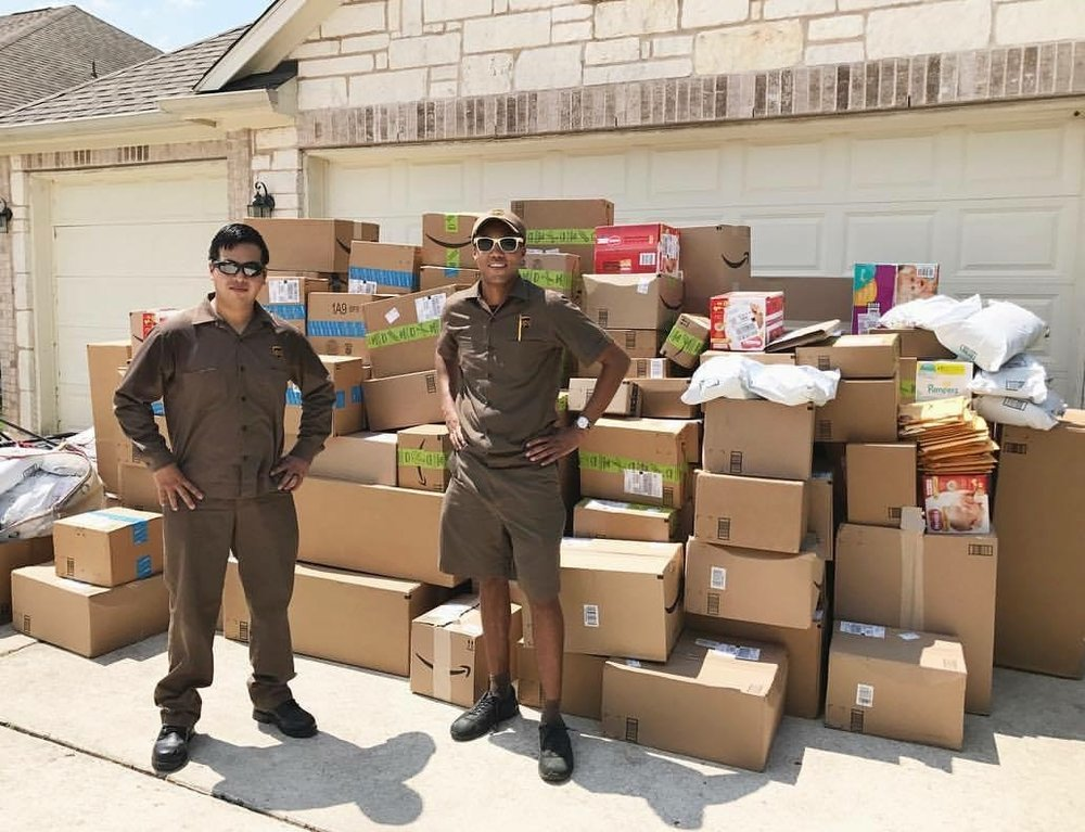These unsung UPS heroes made sure every package got to us as quickly as possible, even renting a moving truck to bring a couple of the loads. This is just one of those deliveries!