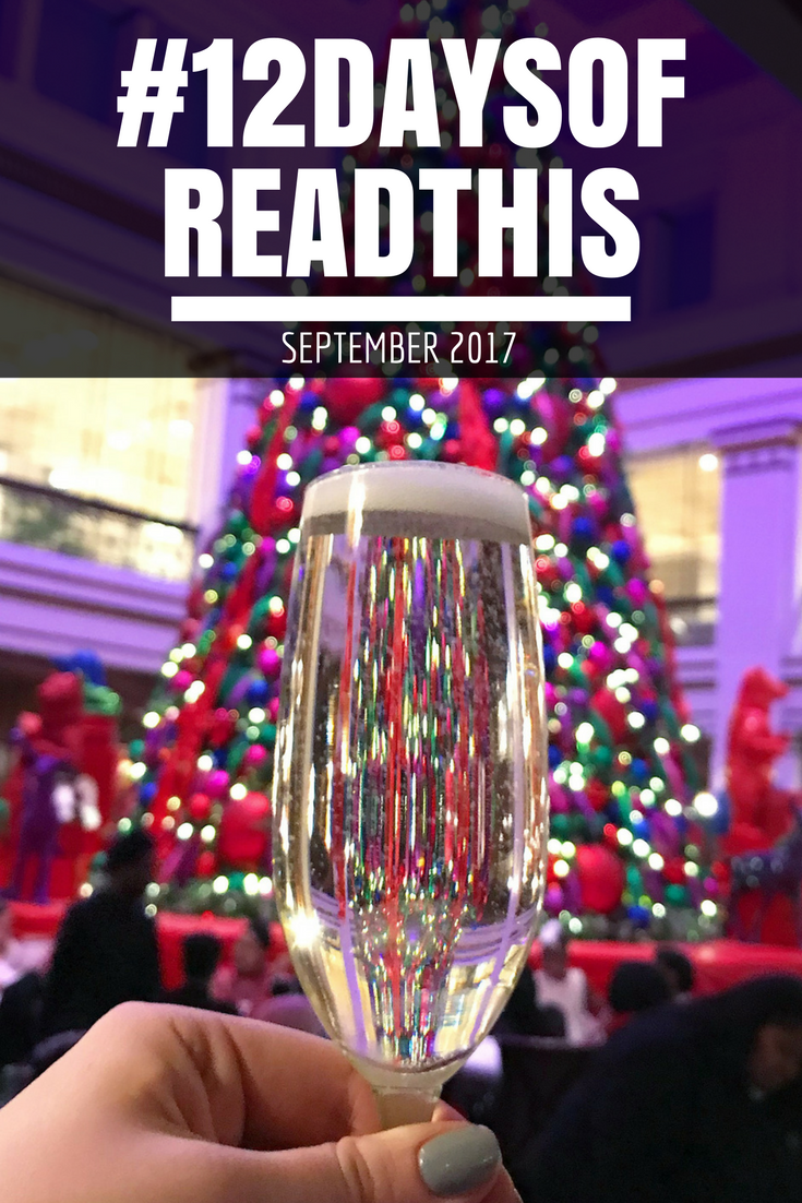 #12daysofreadthis September 2017