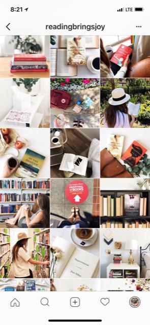 Instagram @ readingbringsjoy