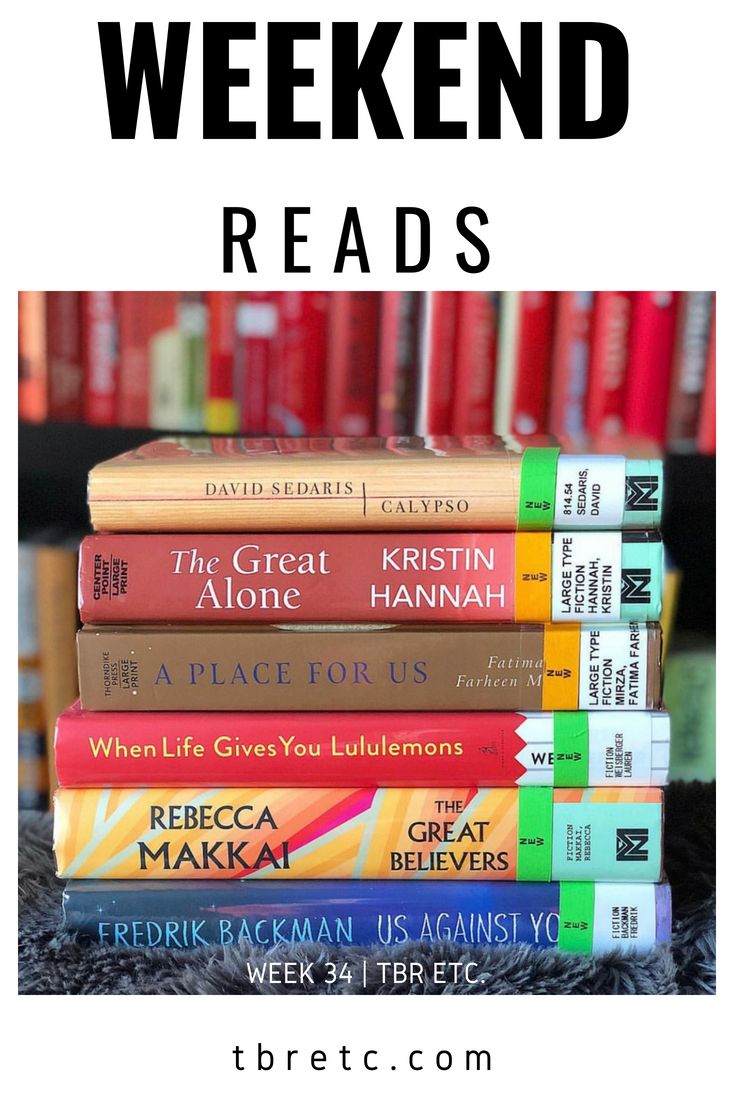 Weekend Reads | Week 34 | TBR Etc.