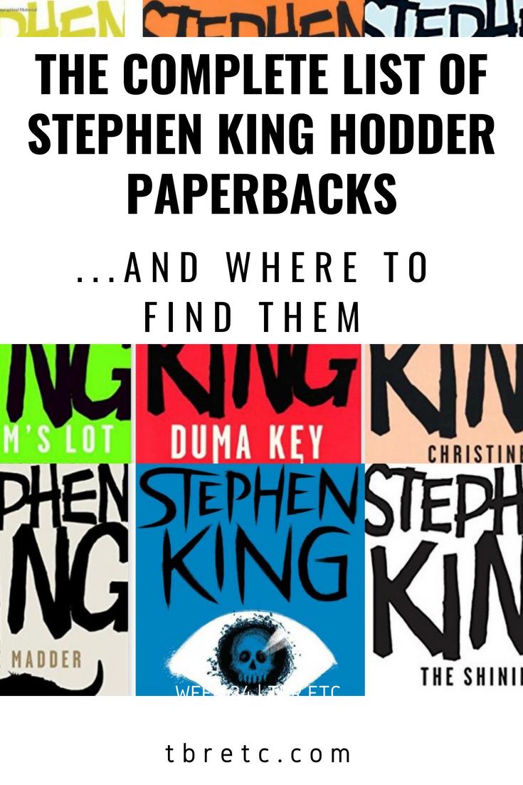 The Complete List of Stephen King Hodder Paperbacks