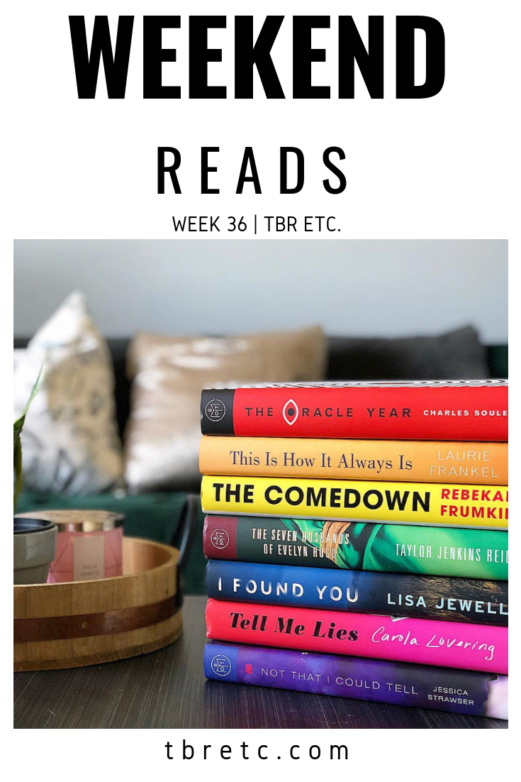 Weekend Reads | Week 36 | TBR Etc.