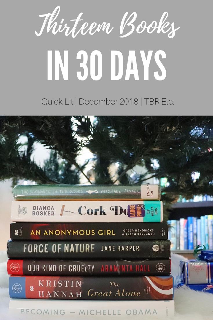 13 Book in 30 Days | TBR Etc.