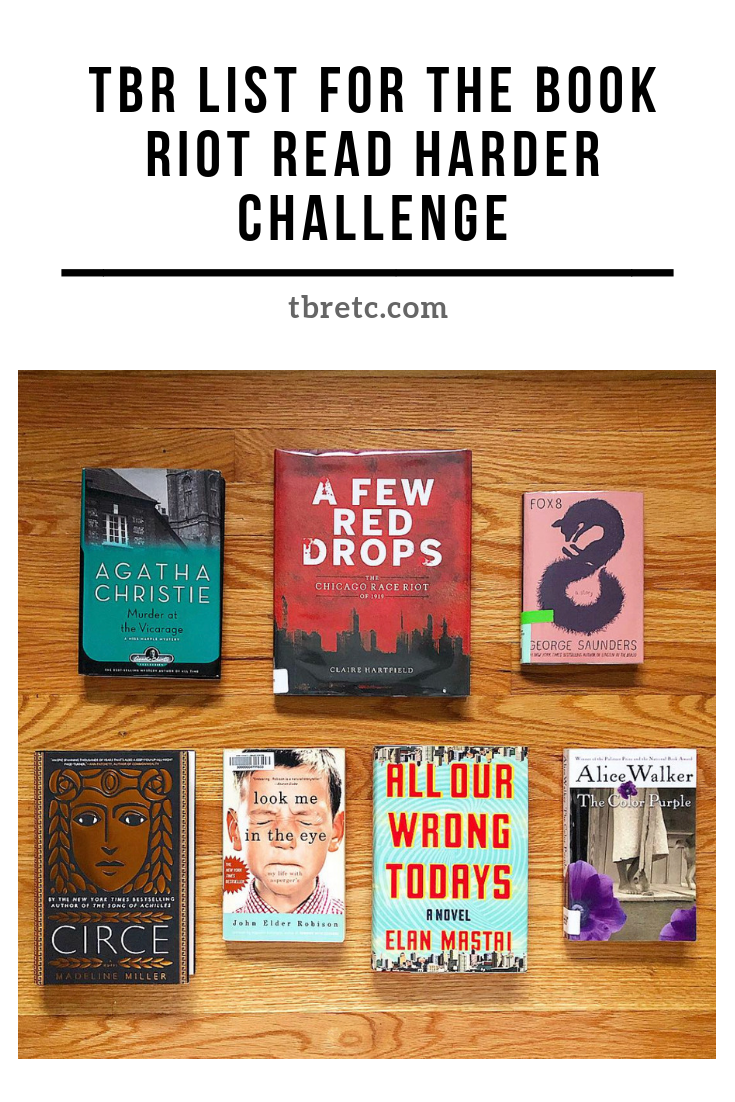 TBR for the Book Riot Read Harder Challenge | TBR Etc.