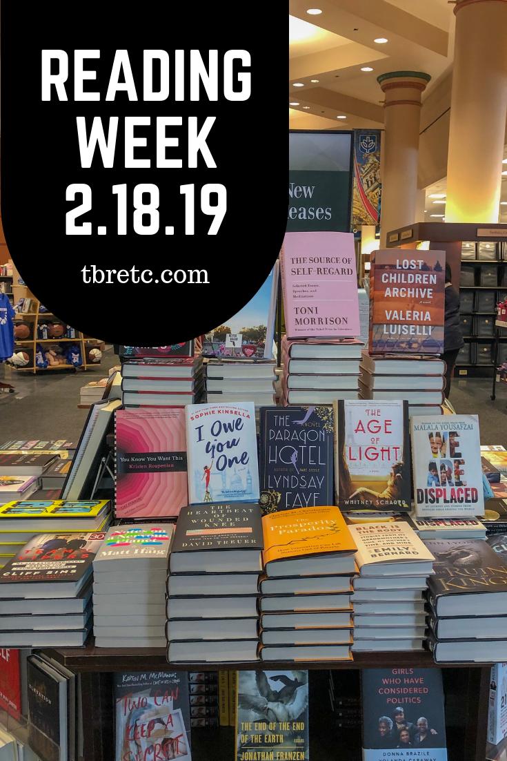 Reading Week | 2.18.19 | TBR Etc.