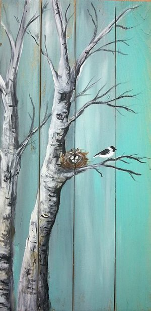 Board Birch Chickadee