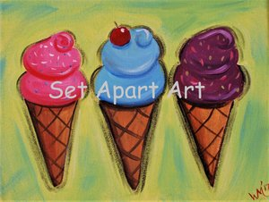 Kids Paint Day- Ice Cream