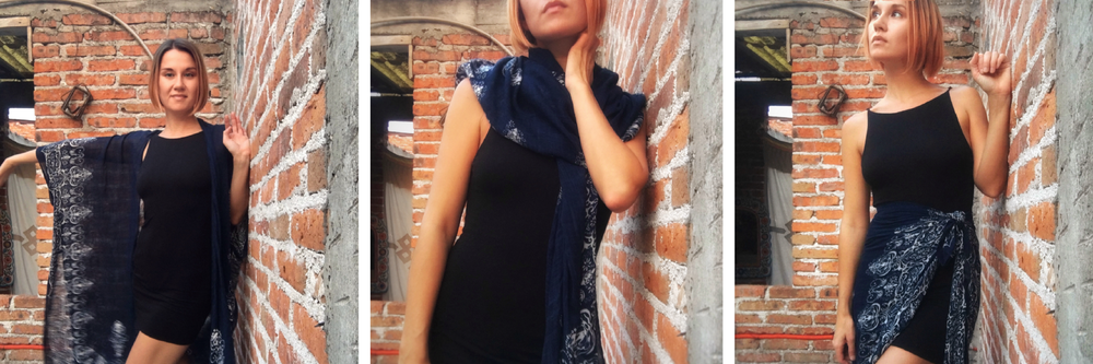 Little Black Dress from Urban Outfitters, kimono from Boutique Feliz in San Miguel de Allende, Mexico.