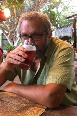 Tom found a restaurant in Loreto that serves microbrews!