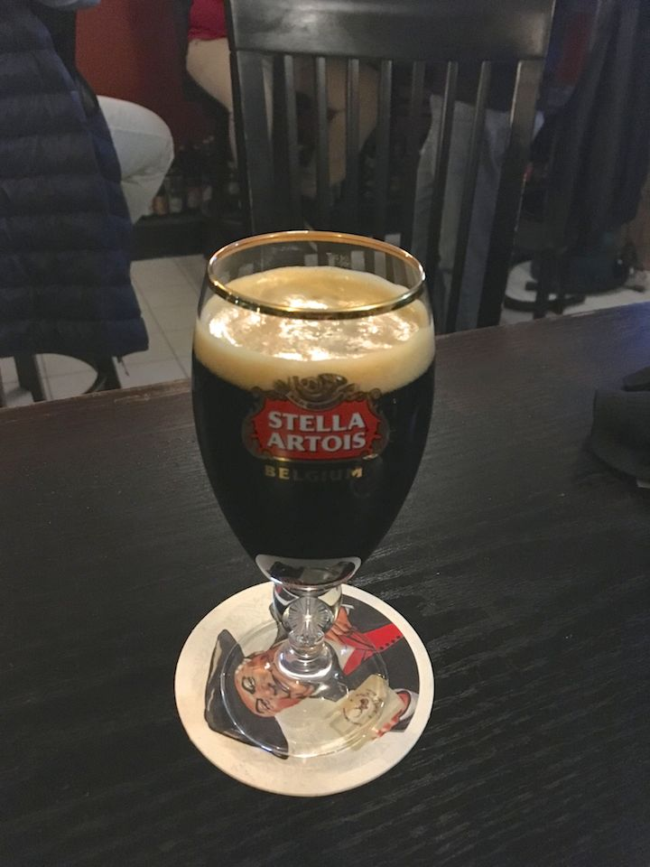 A locally brewed stout ale!!!