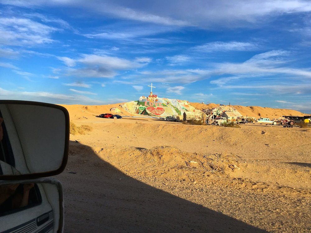 Our first glimpse of slab city.