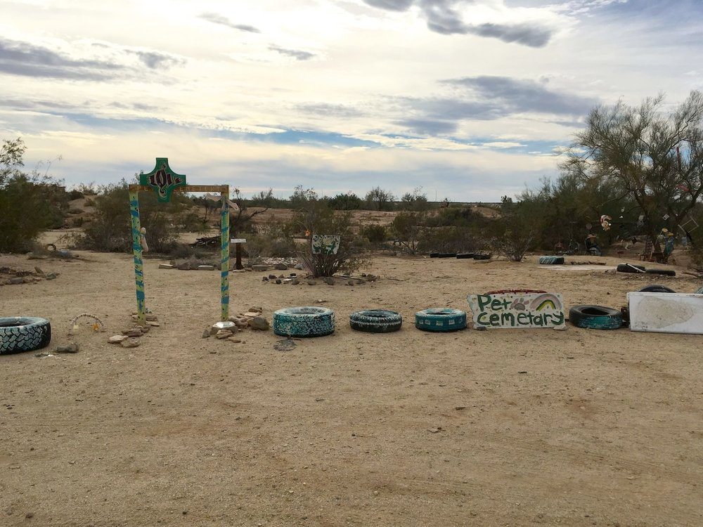 The entrance to Slab City's pet cemetary.