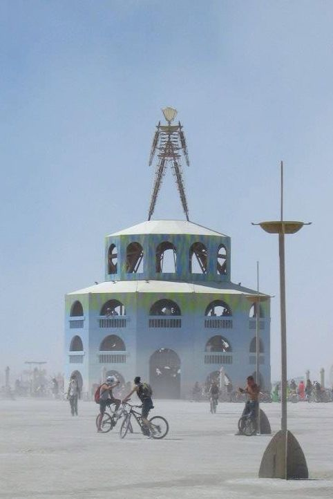 The man at Burning Man 2012