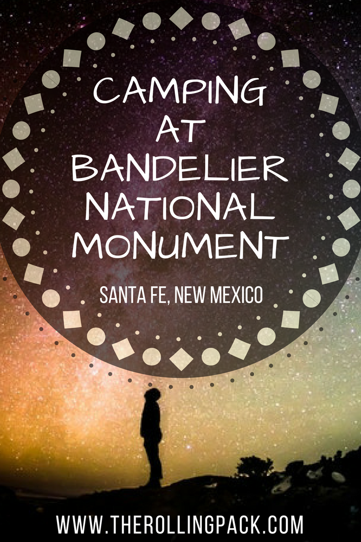 Camping at Bandelier National Monument pin.png