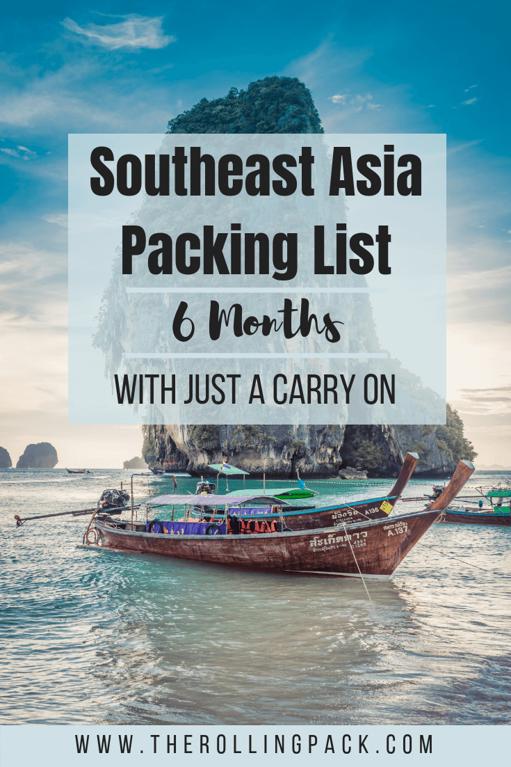 A packing list for a Southeast Asia backpacking trip. A Southeast Asia packing list for women and men. What to wear in Southeast Asia, and everything you want to bring with you on a Southeast Asia backpacking trip!