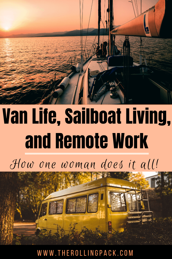 Remote work tips, vanlife ideas, and sailboat living advice from Kristin Hanes of The Wayward Home blog!