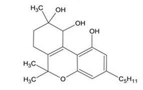 dihydroxy THC : on the way to CBN but not quite there yet.