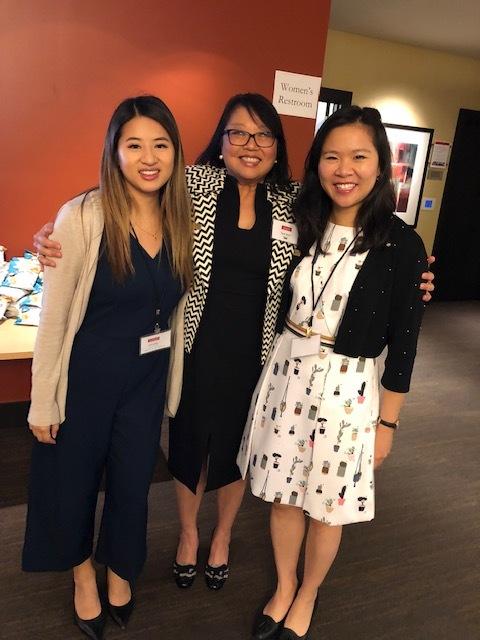 Christy Buranaamorn, VP Marketing NAAAP DC, Sue Ann Hong, Executive Director CAPAW, Teresa Wong, SR. Vice-President NAAAP DC