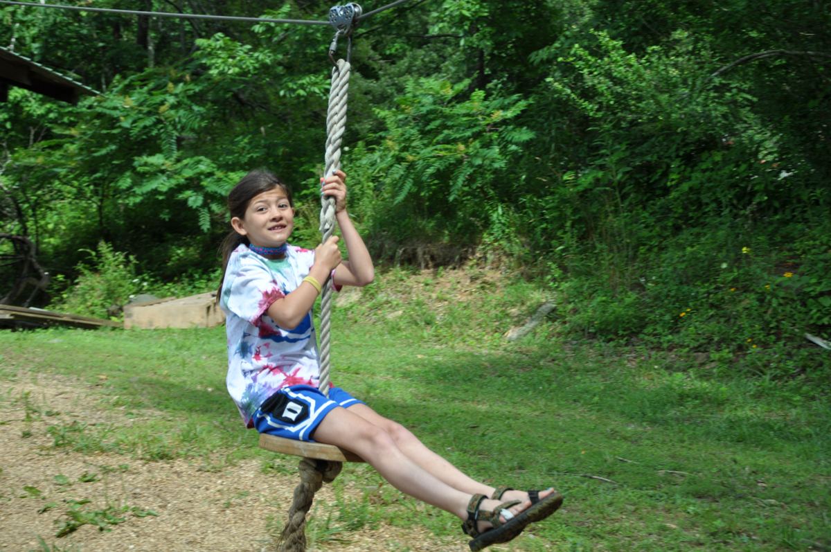 Fun on the rope swing!