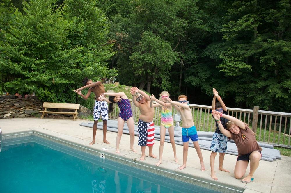 Iwona's swim lesson!