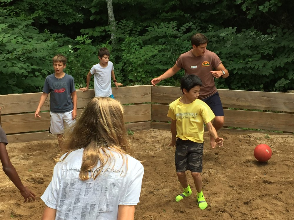 Camp Summer: A good round of gaga ball is always a hit.