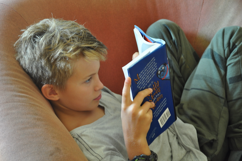 Camp Summer: Relaxing with a good book.