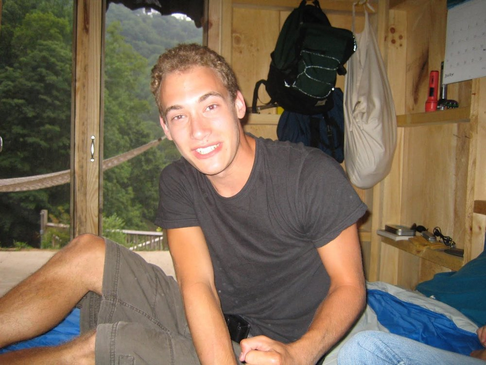Chris in the early days at Camp Spring Creek!