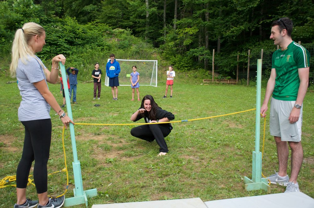 Emily demonstrates her mad limbo skills here!