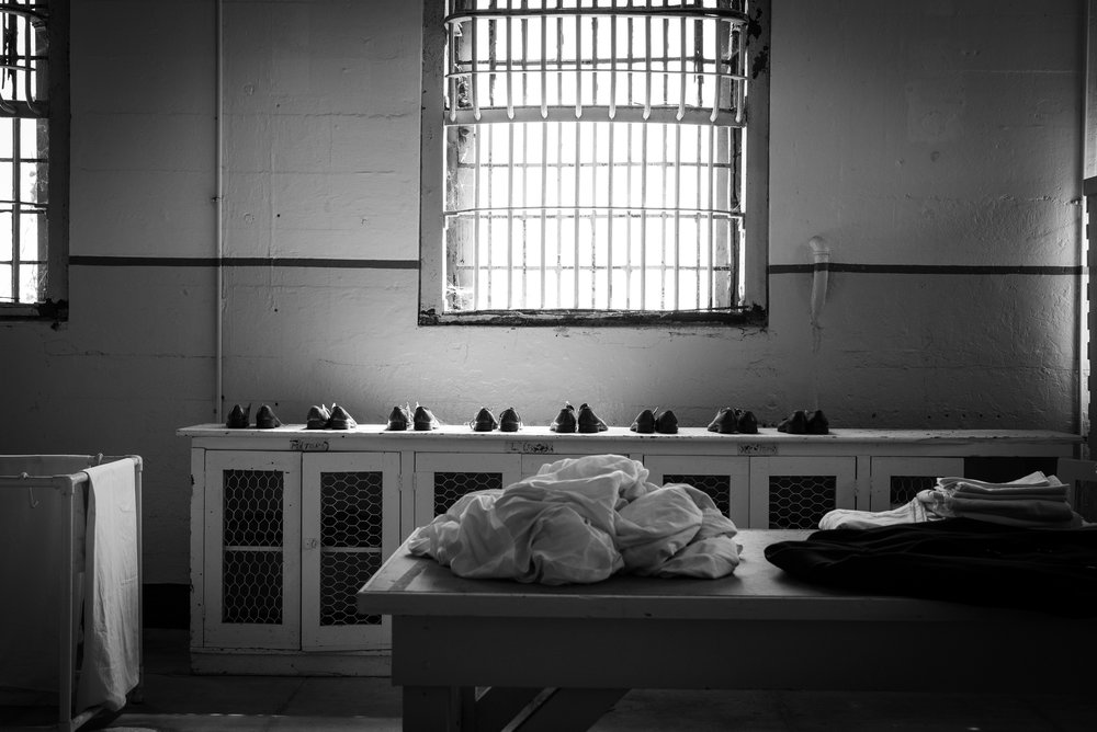 Prison's receiving room
