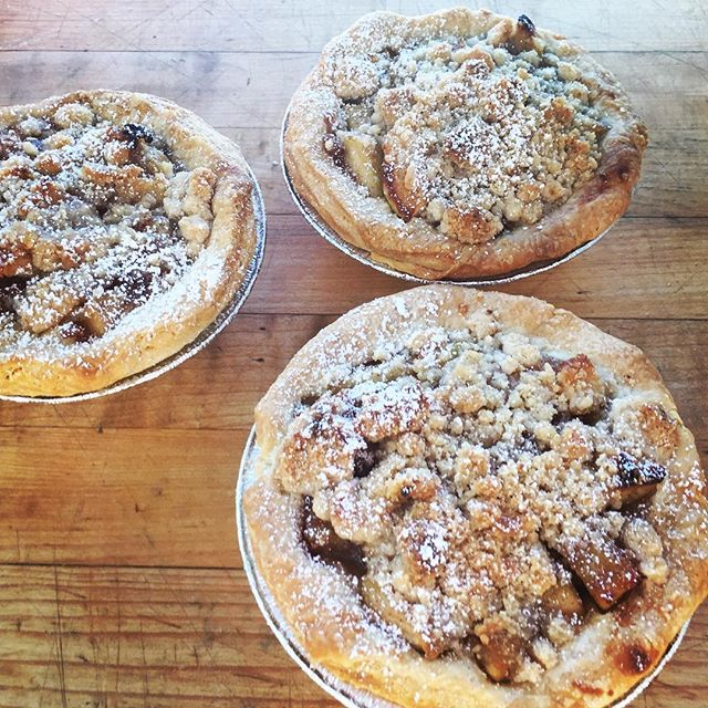 Mini Apple Pies ready for the case at #5250 cafe! Fall baking is in full swing. #baking #fallbaking #apples #applepie #pastrychef #amorettiarmy