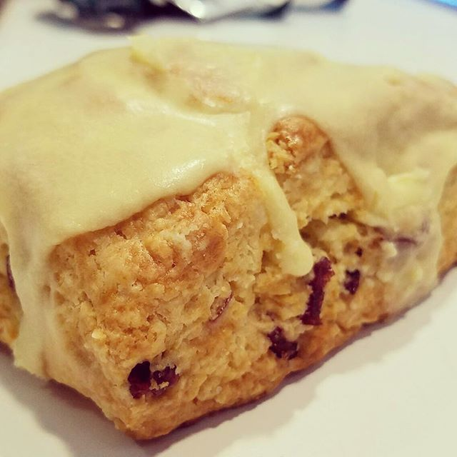 Cranberry Orange Scones for 5250 Cafe.  Perfect with morning coffee.....Start your day with something sweet. #baking #amorettiarmy #baker #bakery##5250