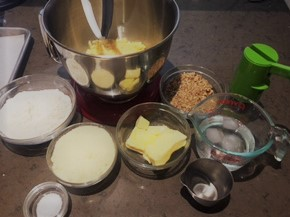 Cheese sticks mise en place
