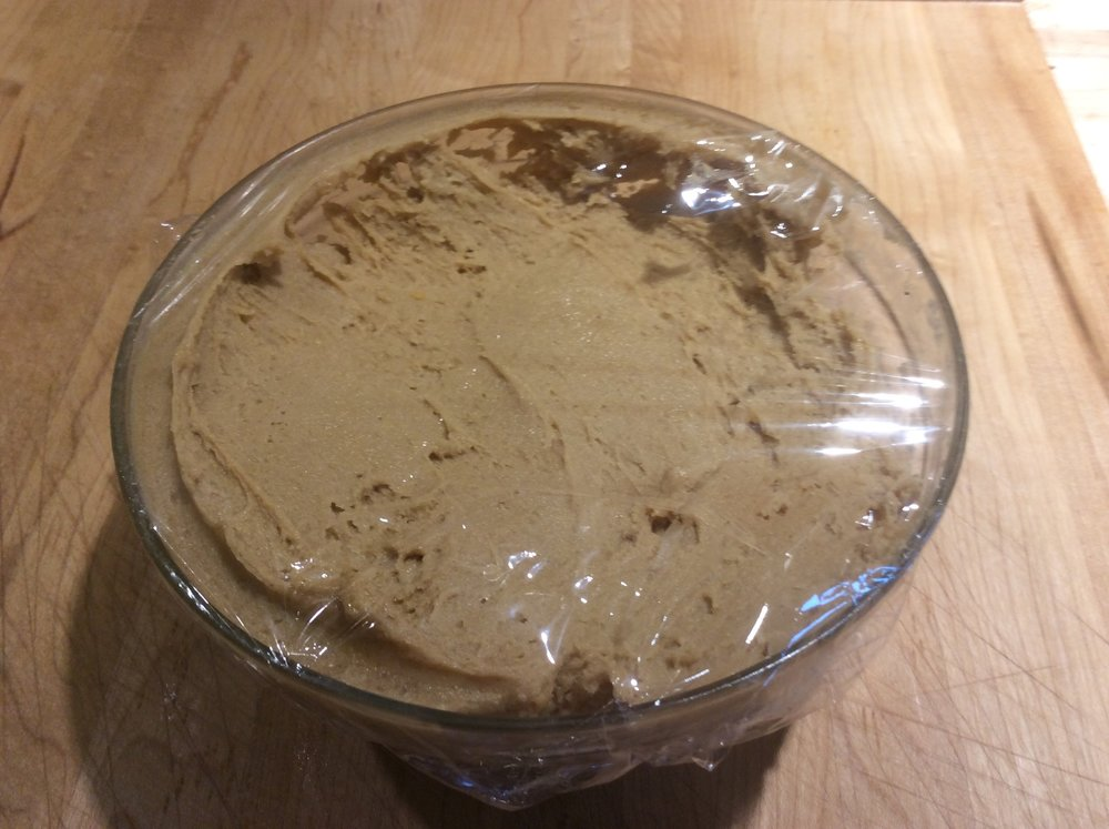 Peanut Butter Cookie Dough in Bowl - can stay in refrigerator for up to 3 days before scooping....