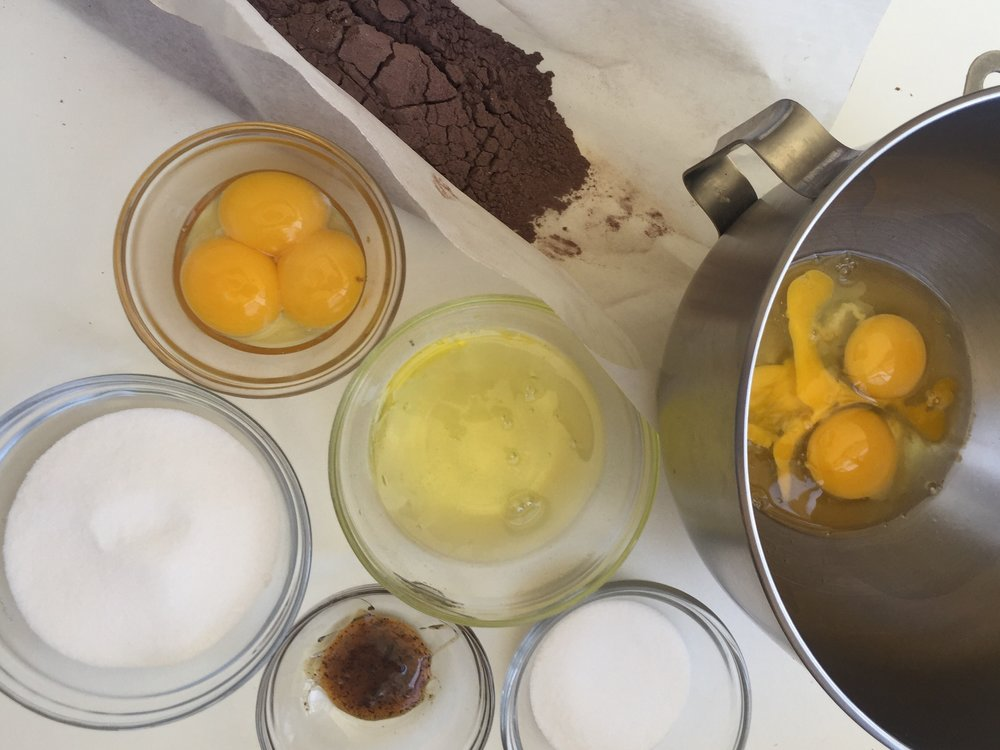 Chocolate Biscuit Mise en Place