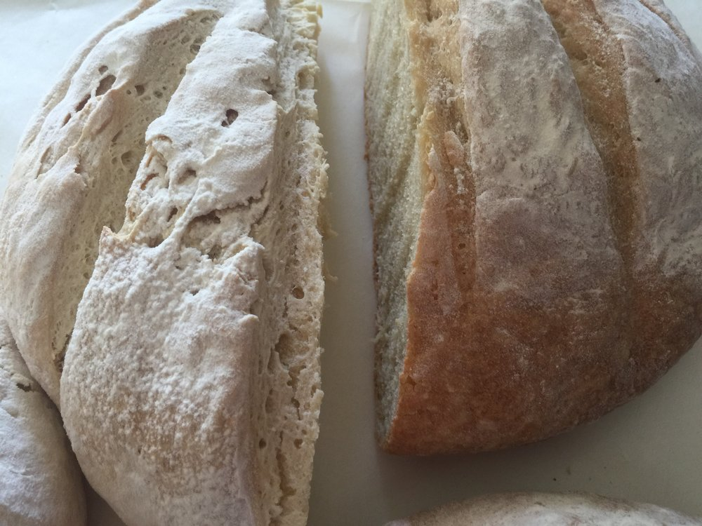 Flour matters....Cake flour loaf on the left - Bread flour loaf on the right